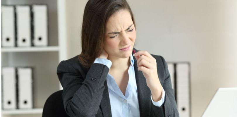 Someone experiencing fibromyalgia symptoms.